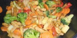 Zöldséges sertéskaraj wokban