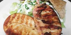 Grillezett mozzarella baconben