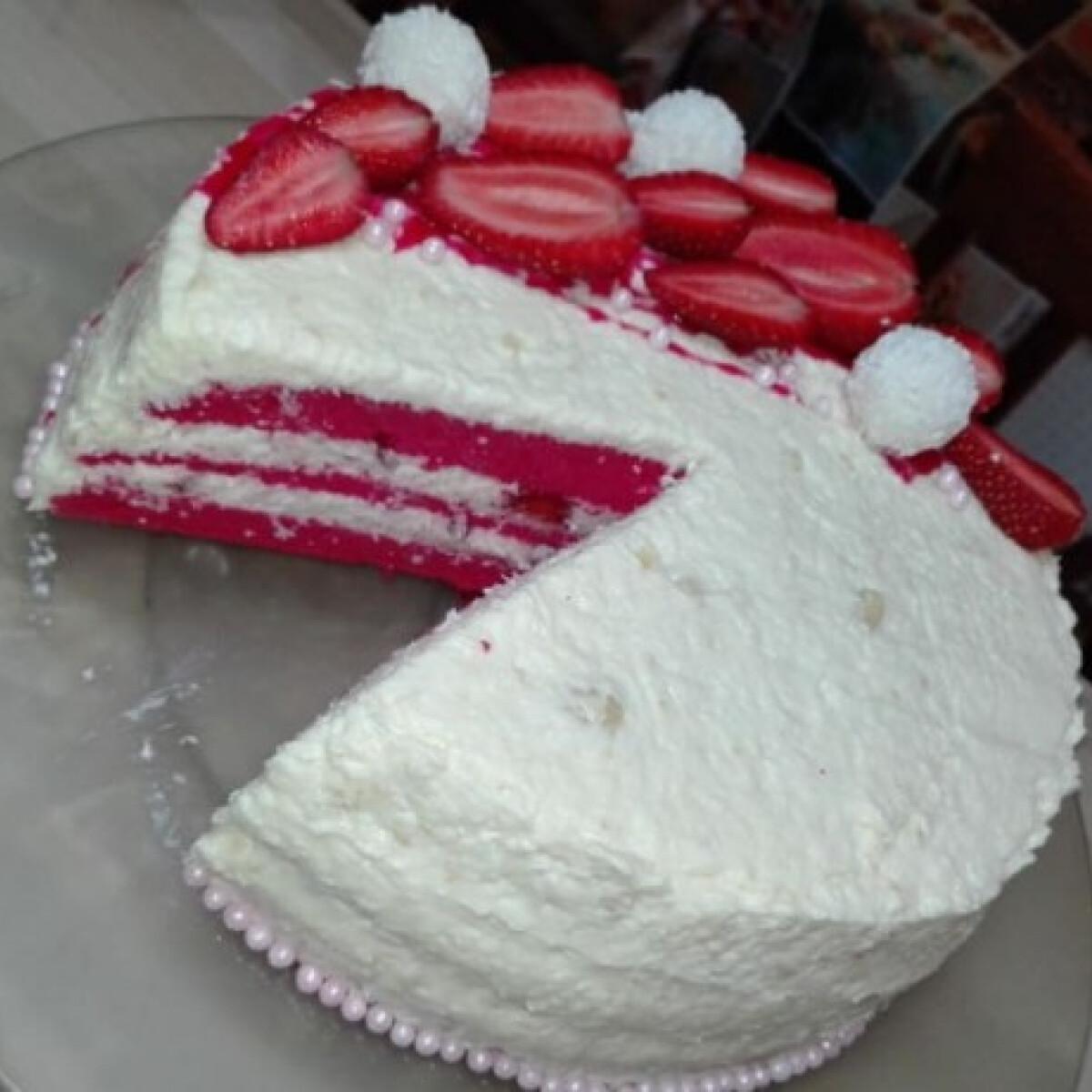 Ezen a képen: Epres Raffaello torta Dinkuci konyhájából