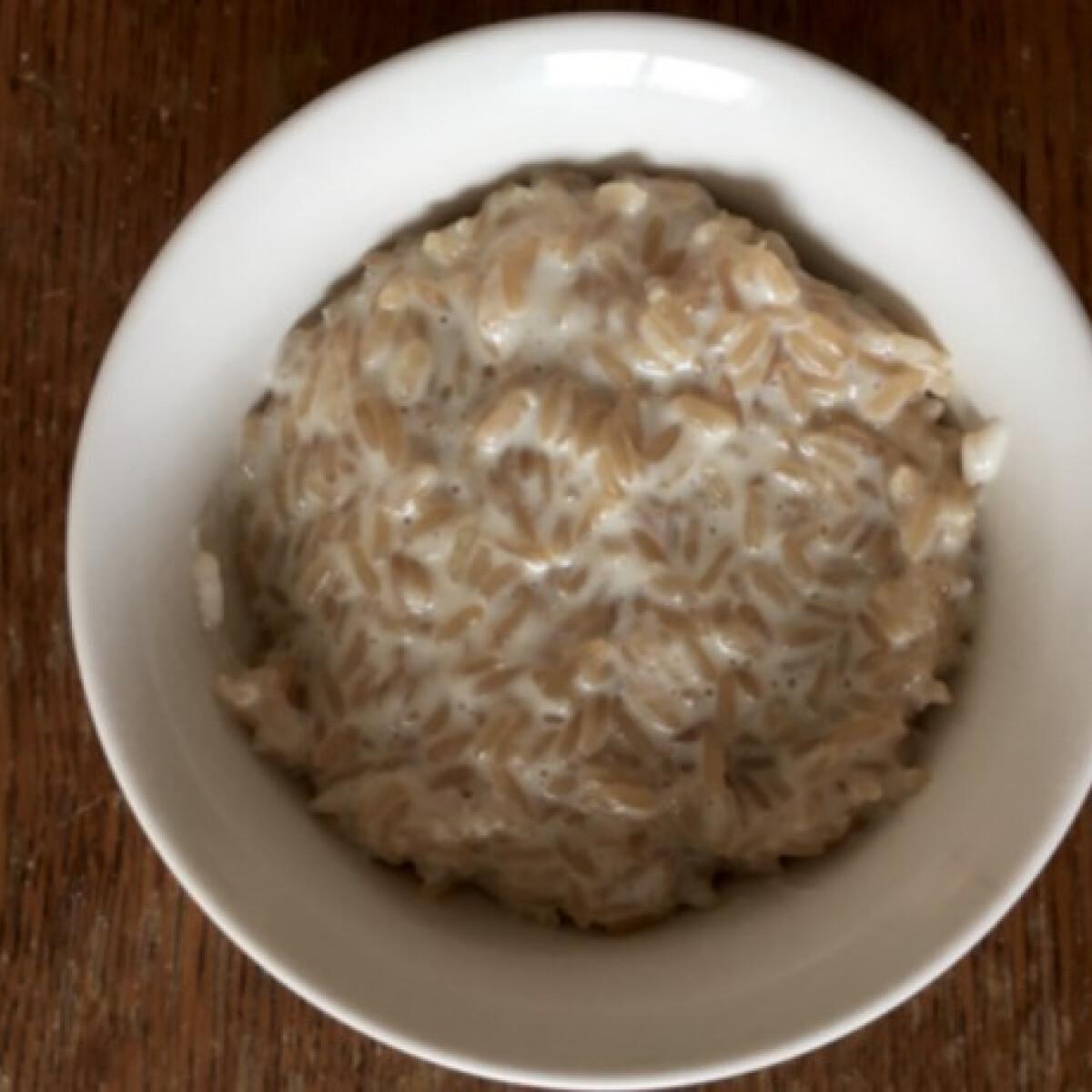 Tejberizs barna rizsből VTim konyhájából