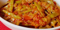 Paradicsomos olívaolajos zöldbab