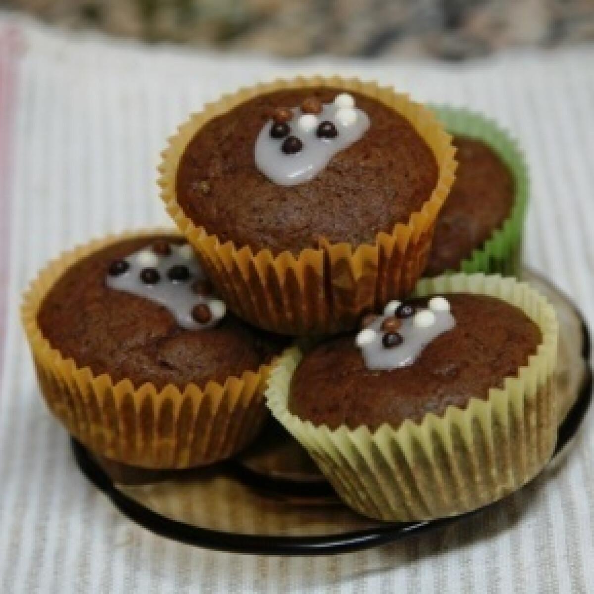 Ezen a képen: Csokoládés-gesztenyés muffin