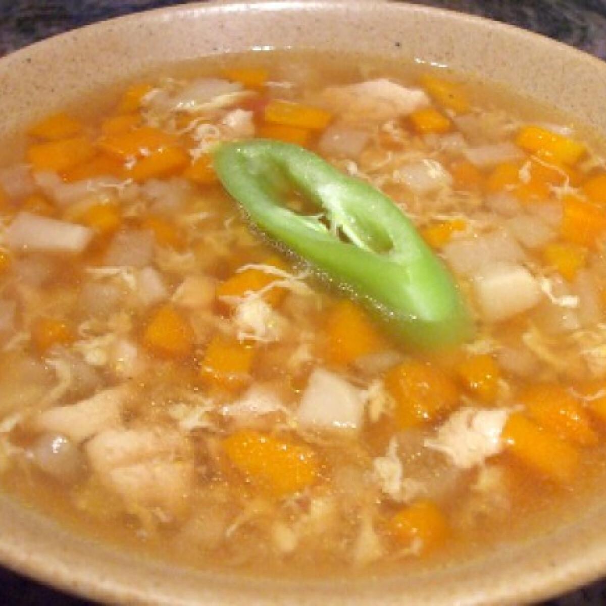 Ezen a képen: Különleges csirkés savanyú leves