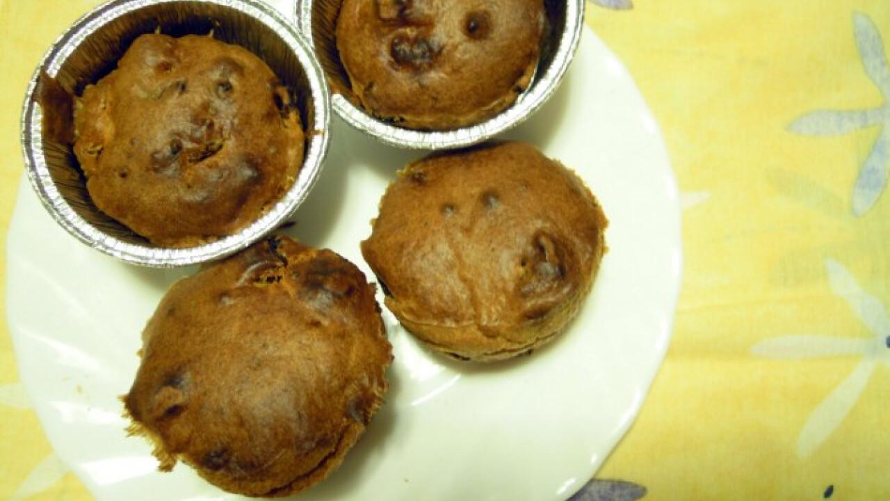 Aszalt paradicsomos-kolbászos muffin