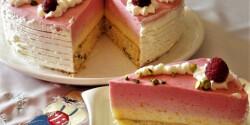 Barackos-málnás torta