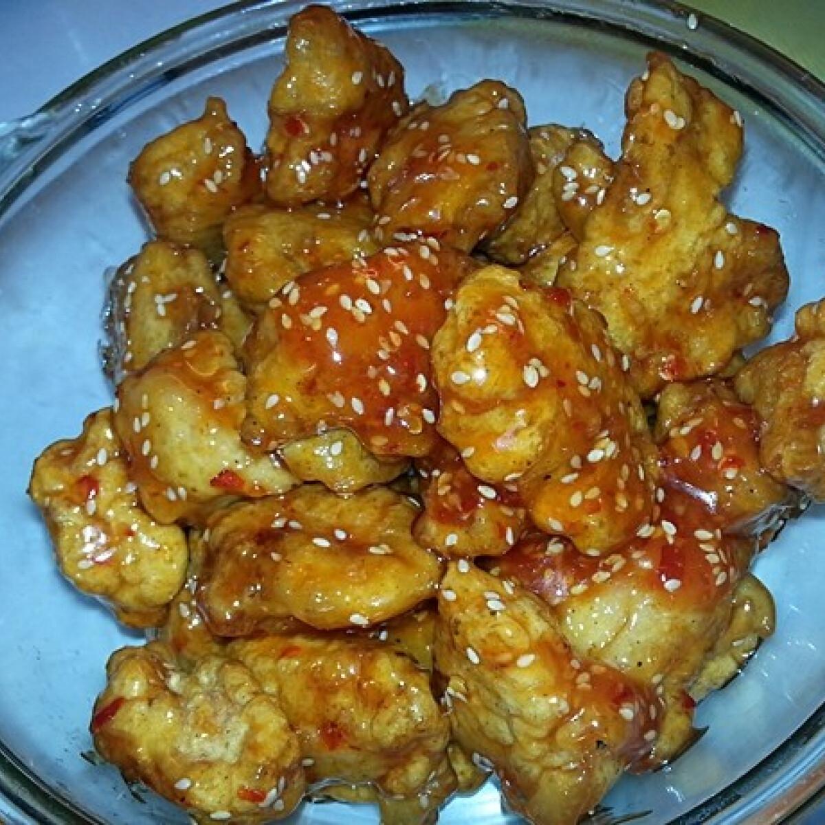 Ezen a képen: Kínai szezámmagos csirke Andzsika konyhájából