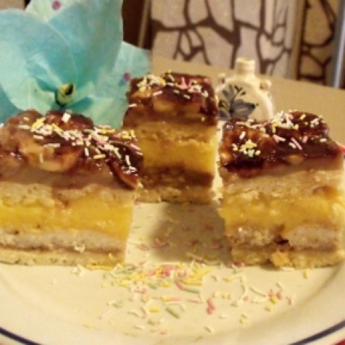 Ezen a képen: Nutellás-banános-babapiskótás süti