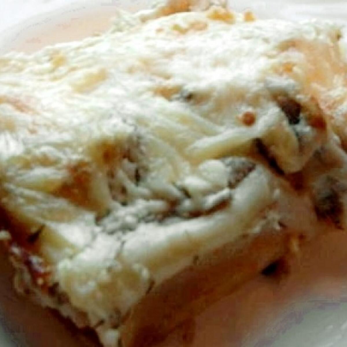 Tejszínes-csirkehúsos cannelloni