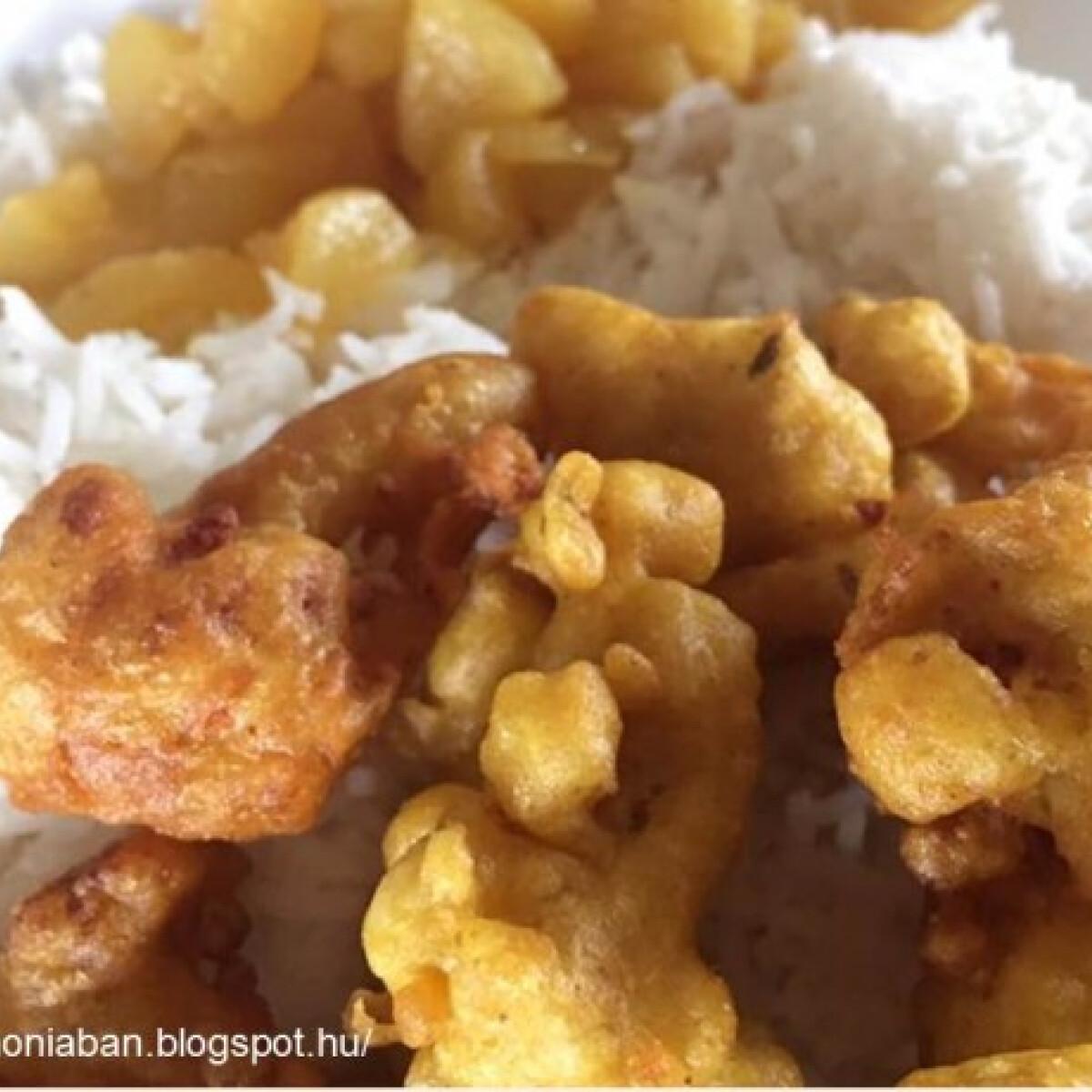 Karfiol pakora - karfiol fűszeres bundában sütve