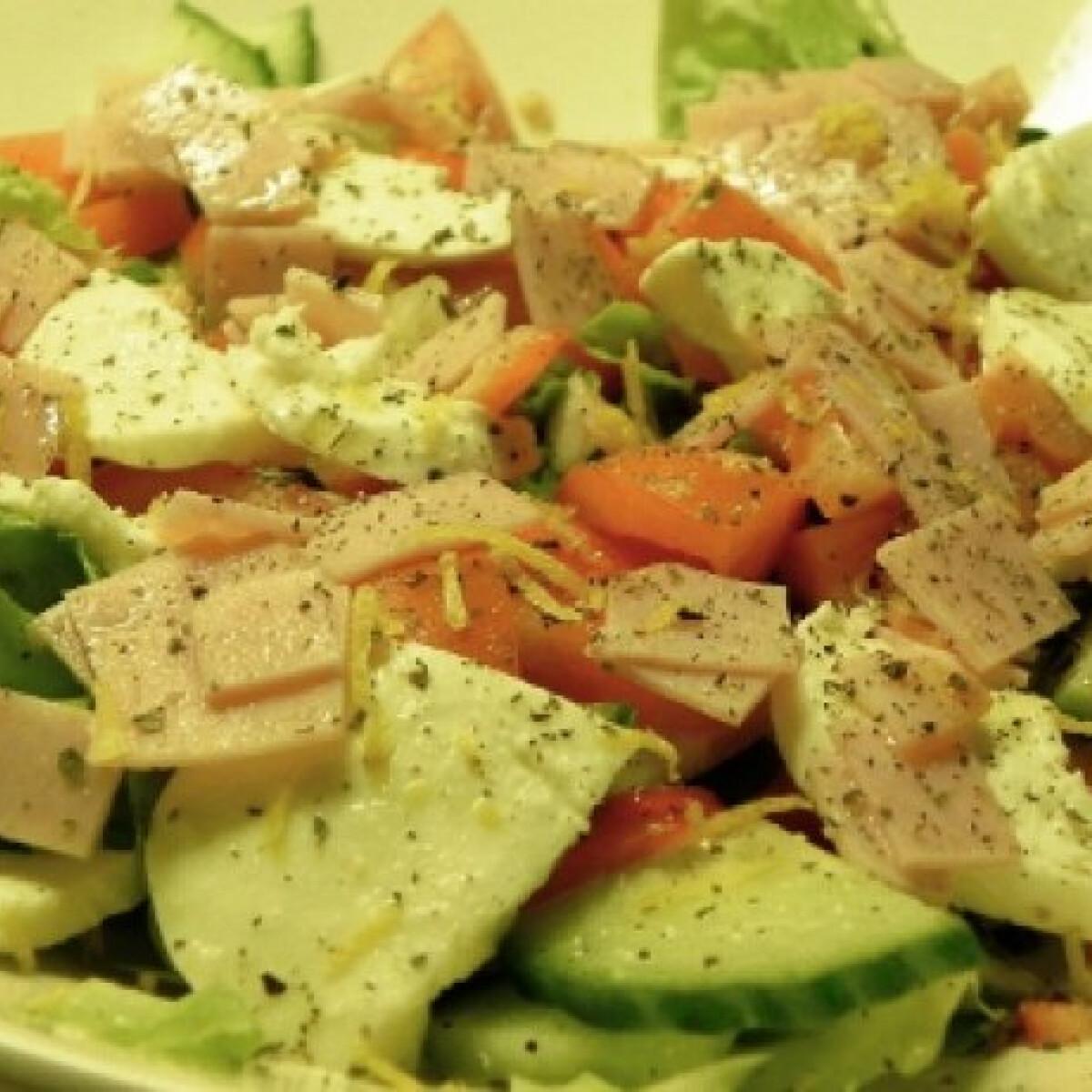 Ezen a képen: Mozzarellasaláta Zsuffa konyhájából