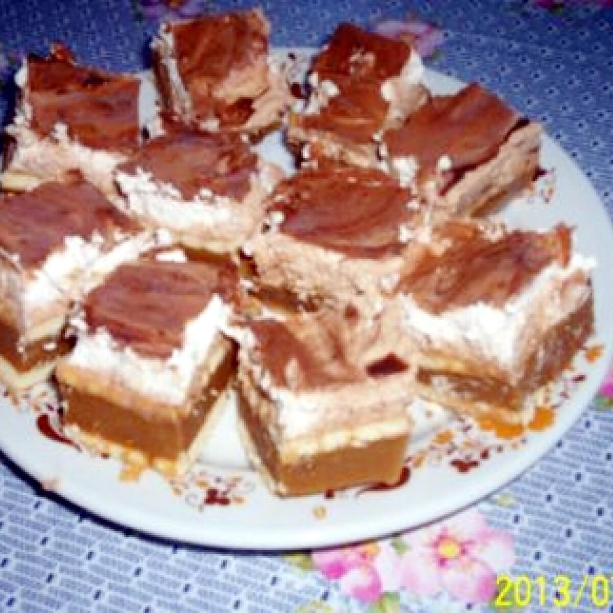 Karamellás-csokis habos kocka