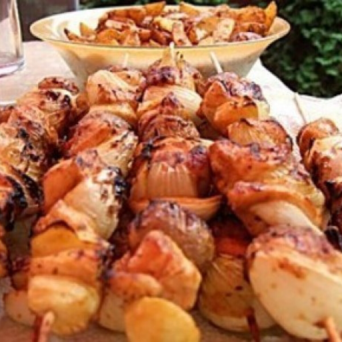 Ezen a képen: Csirkés saslik 2. - zöldségekkel