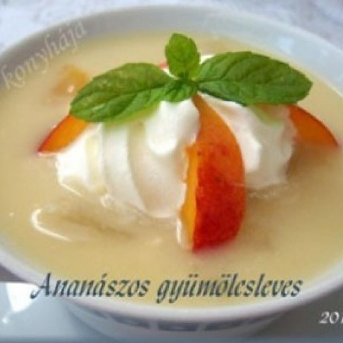 Ezen a képen: Ananászos gyümölcsleves
