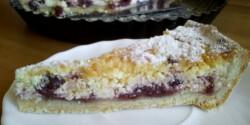 Túrós-meggyes sült torta