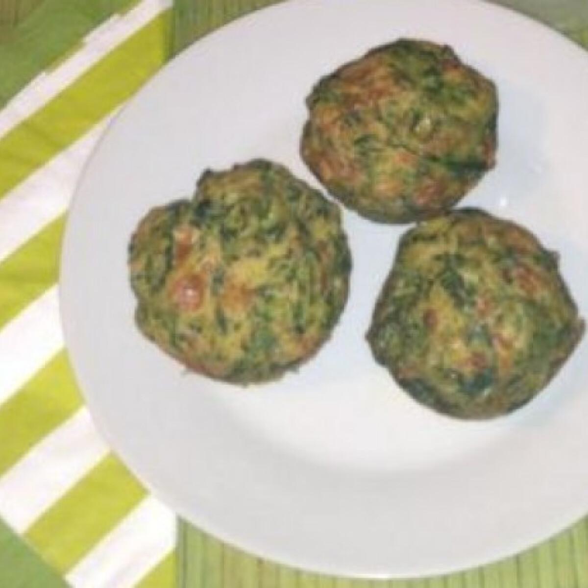 Spenótos-sajtos muffin