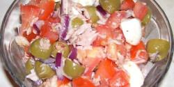 Mozzarellás tonhalsaláta