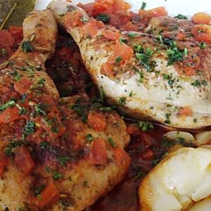 Mallorcai sült csirkecombok