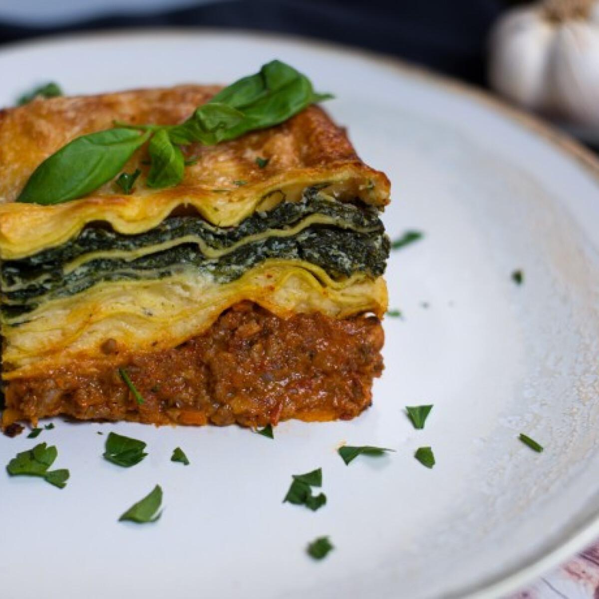 Ezen a képen: Trikolor lasagne