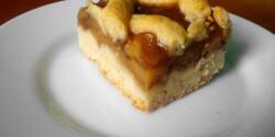 Almás rácsos sütemény