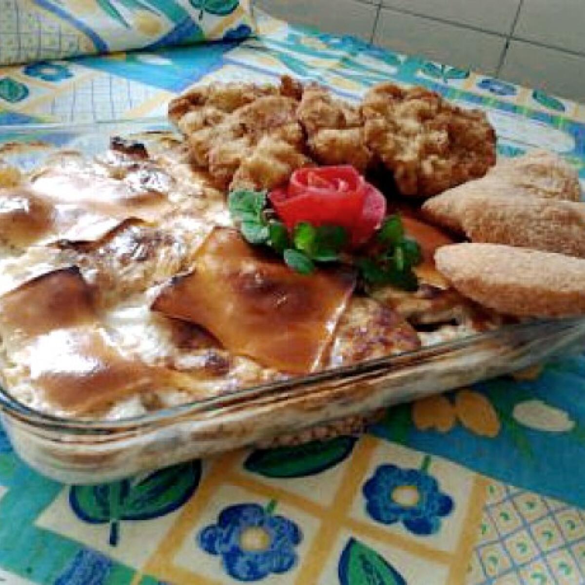 Burgonyatál camembert-rel