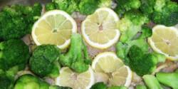Brokkolis-citromos hal csőben sütve