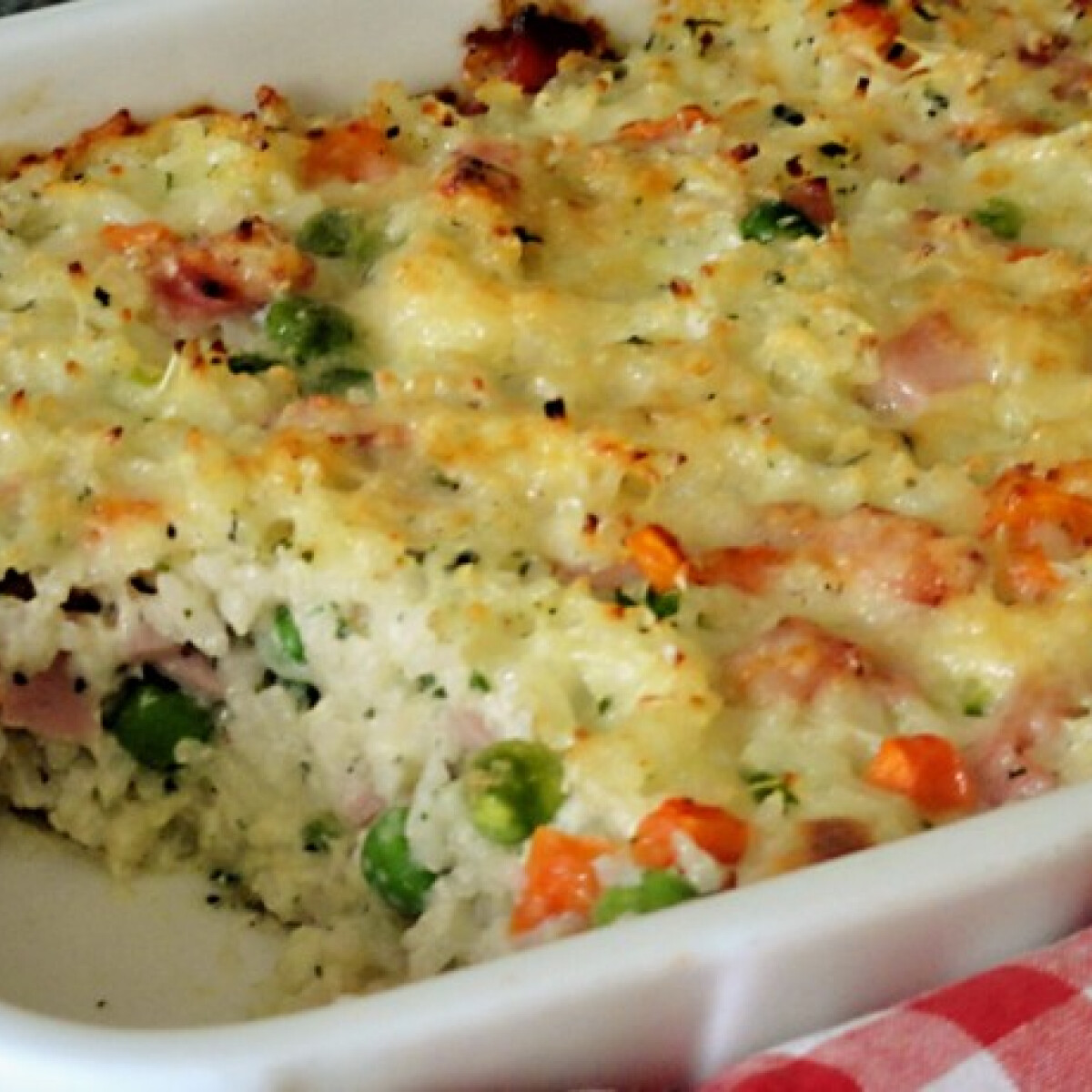 Ezen a képen: Mozzarellás sült rizs