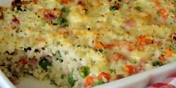 Mozzarellás sült rizs