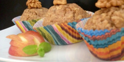 Fahéjas-almás-diós muffin