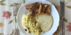 Afrikai harcsa tejszínes citromszósszal