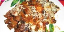 Padlizsános polenta