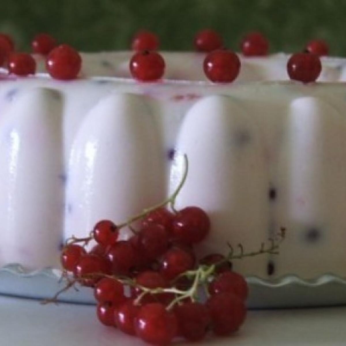 Ezen a képen: Joghurtos túrótorta 10. - ribizlivel