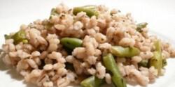 Zöldfűszeres-zöldbabos árpaköret