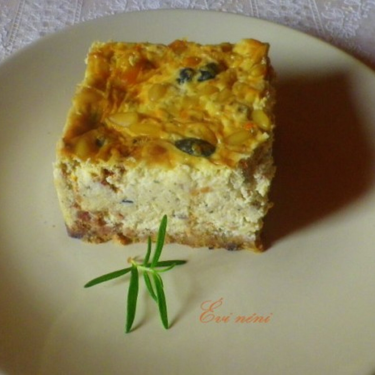 Ezen a képen: Olasz sajttorta Évi néni konyhájából