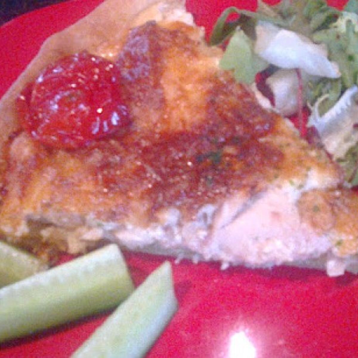 Ezen a képen: Tejszínes-csirkés quiche