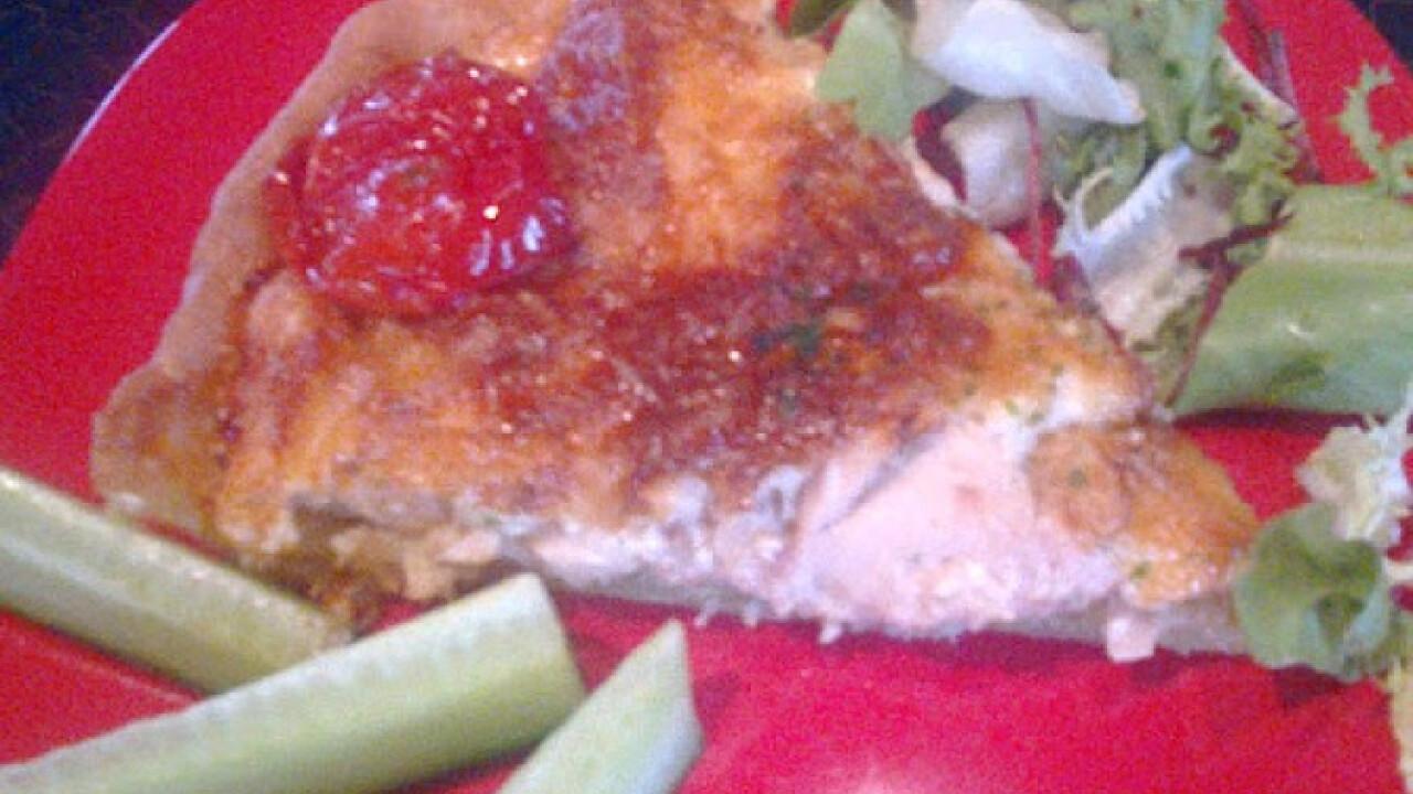 Tejszínes-csirkés quiche