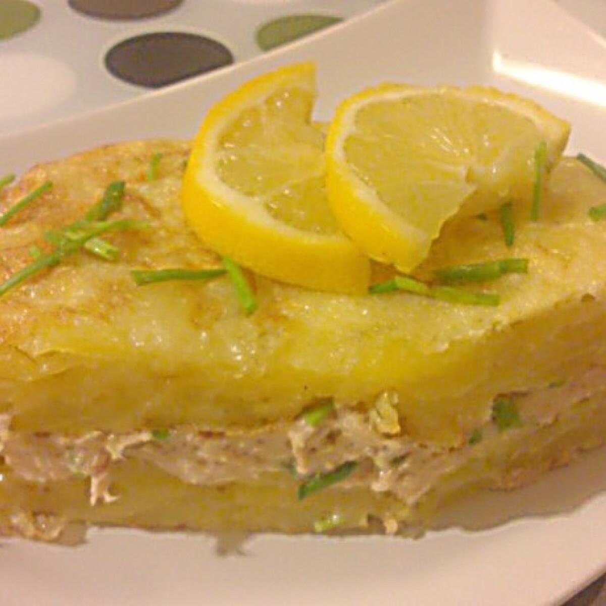 Ezen a képen: Spanyol tortilla tonhalkrémmel
