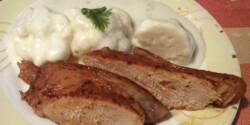 Karfiolfőzelék sült hússal