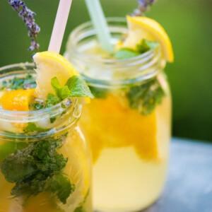 Levendulás-mentás limonádé