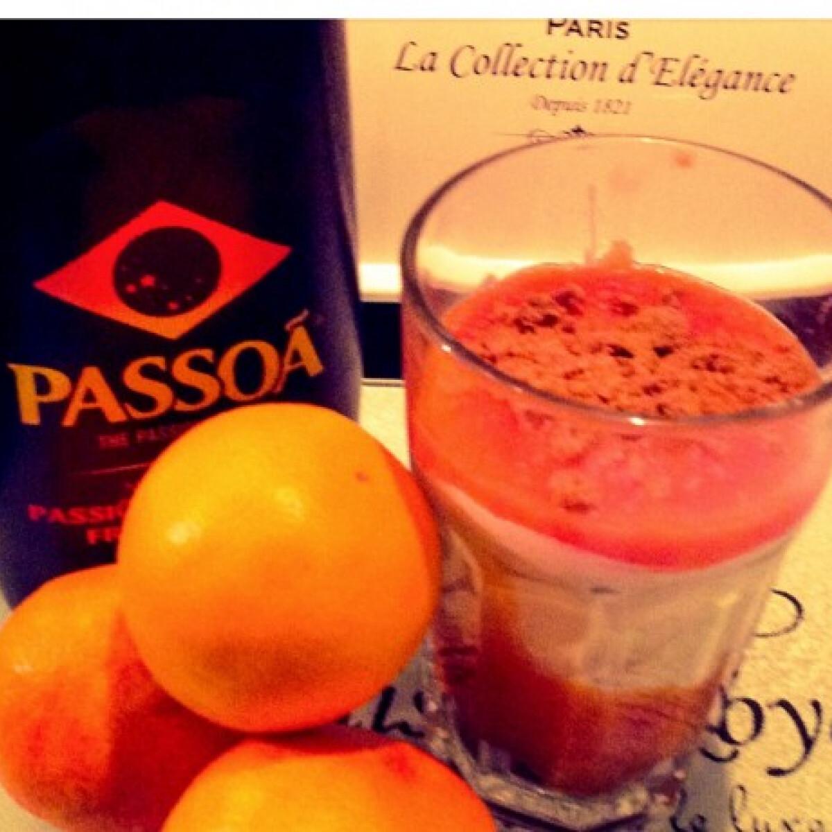 Ezen a képen: Vérnarancsos mascarpone desszert
