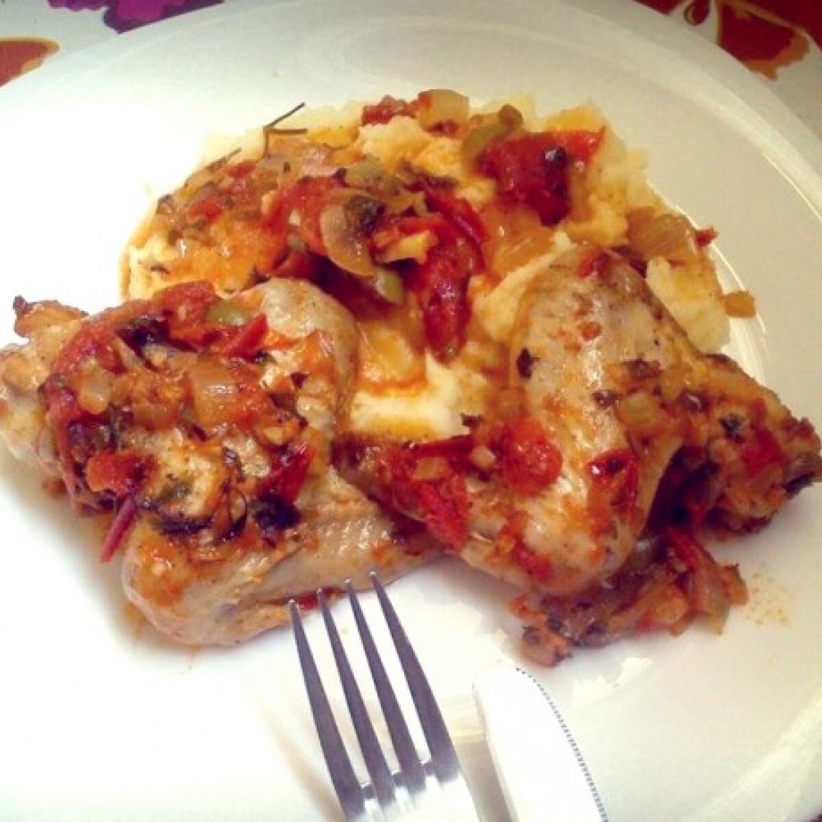 Ezen a képen: Görög csirke Alföldi Flóra konyhájából