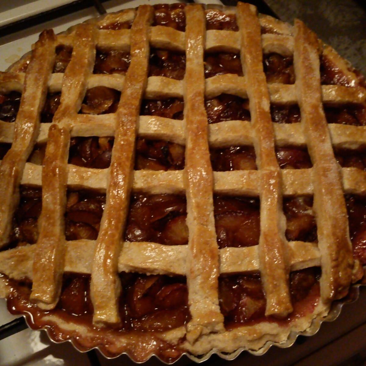 Ezen a képen: Szilvás pite Cimke konyhájából