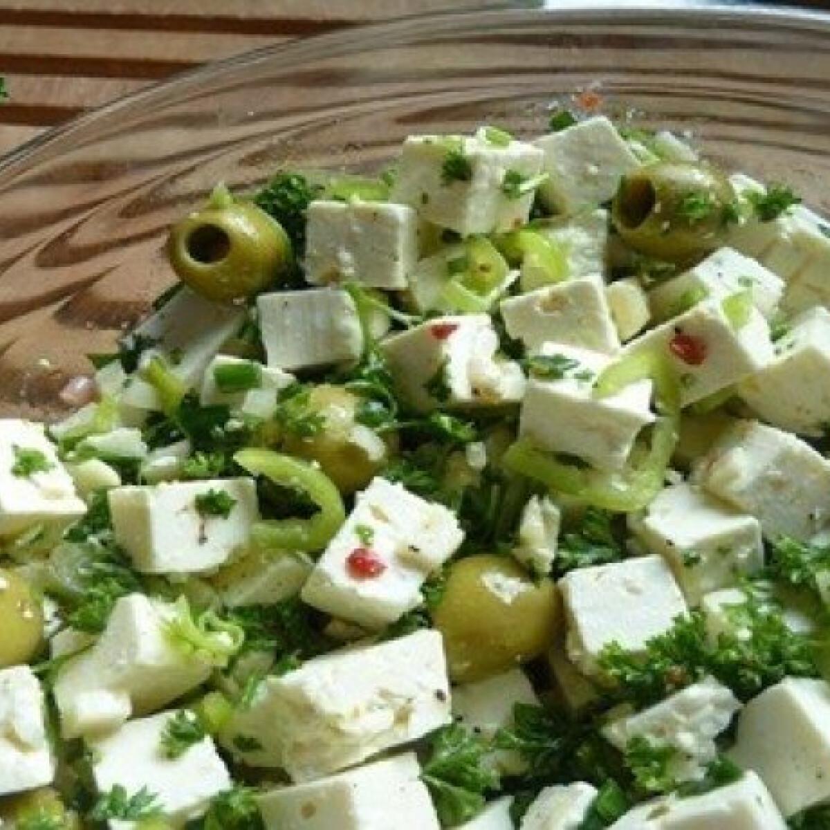 Mediterrán saláta 3. - feta sajttal