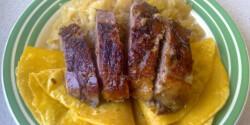 Sült libamell párolt káposztával és loksával