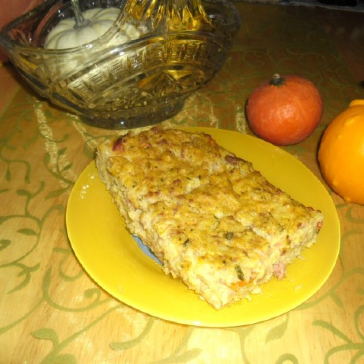 Ezen a képen: Karfiolos-sütőtökös pite