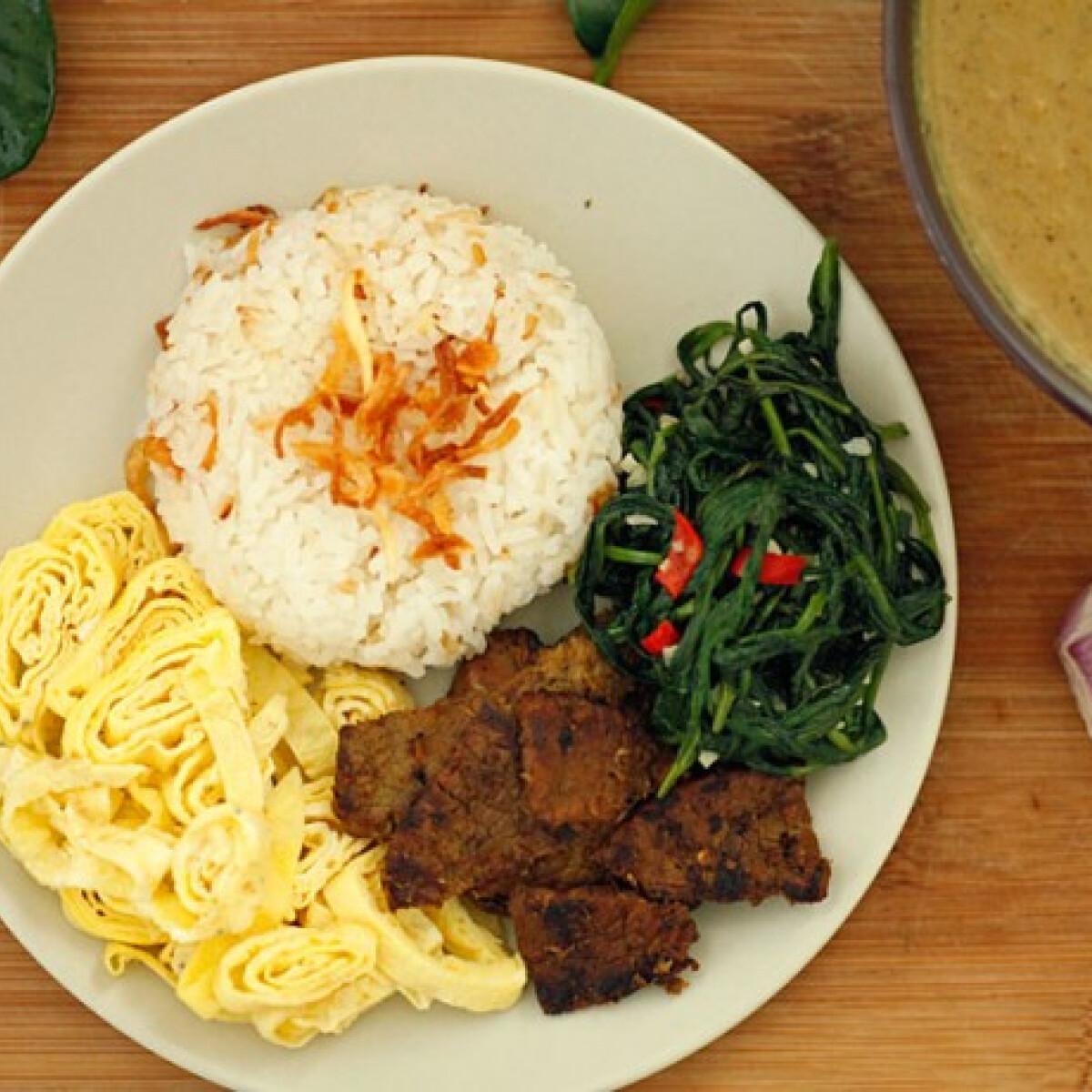 Ezen a képen: Indonéz vacsora