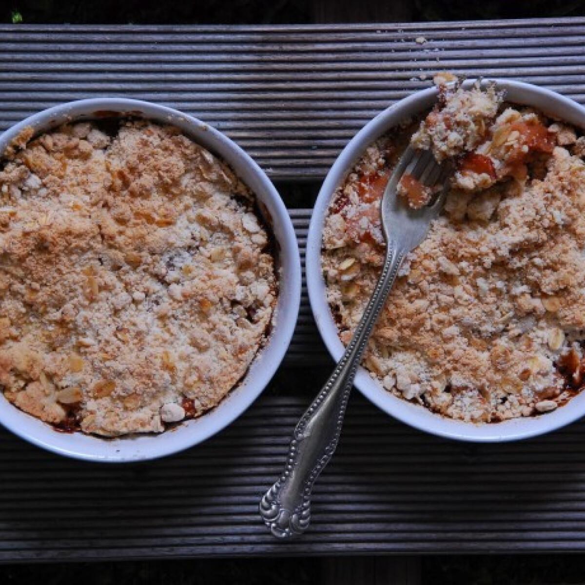 Fűszeres almás crumble