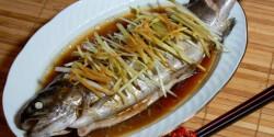 Saját levében párolt hal kínai stílusban
