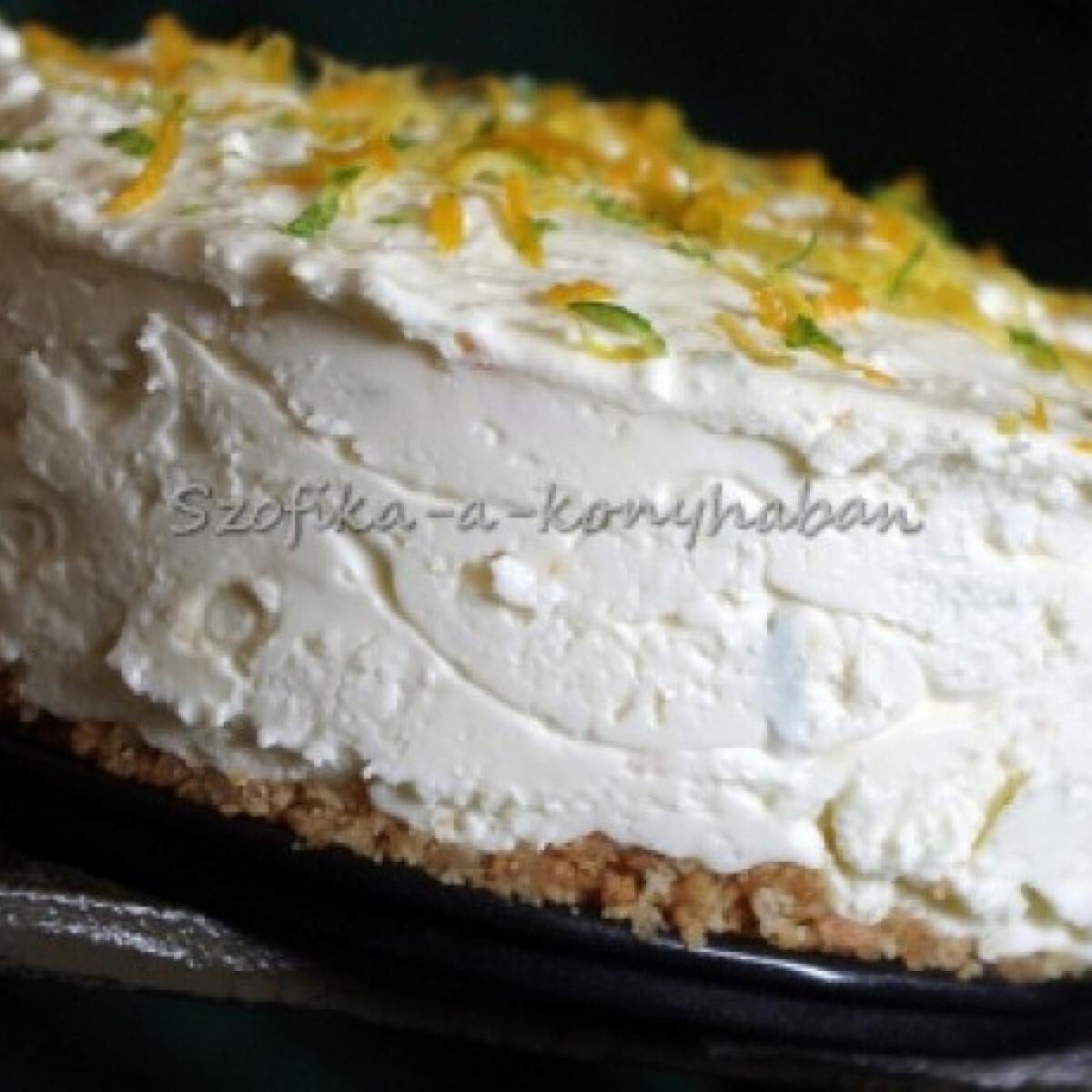 Ezen a képen: Citrusos túrótorta Szofika konyhájából