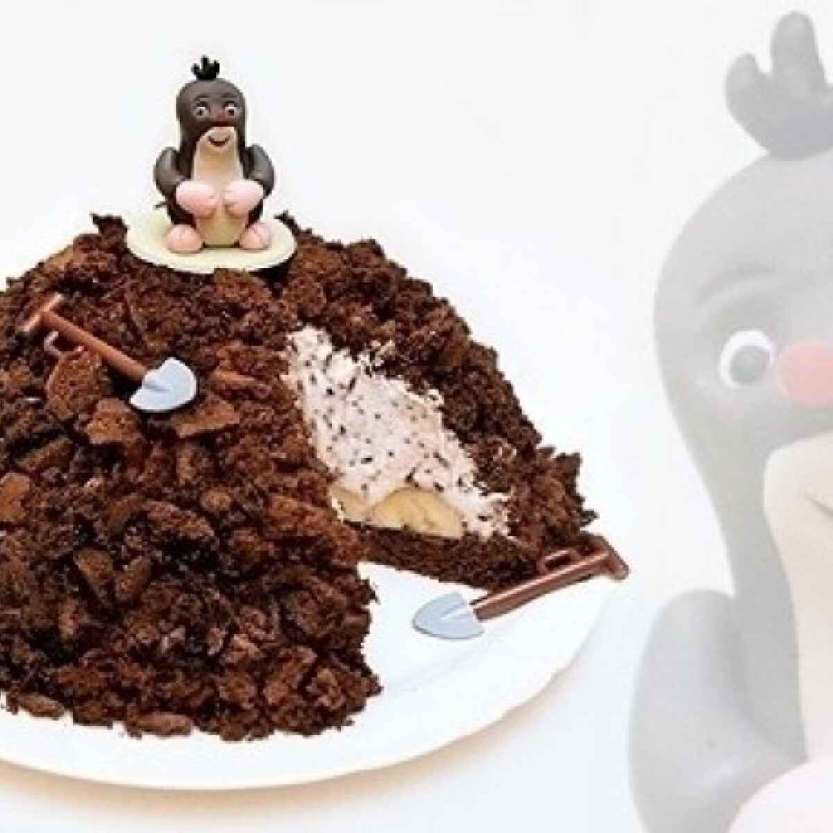 Ezen a képen: Vakondtúrás torta