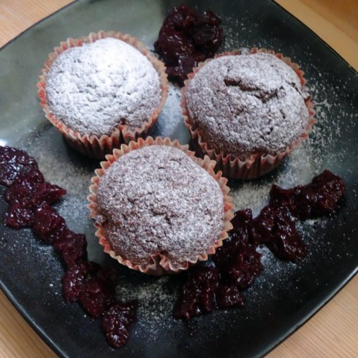 Ezen a képen: Kakaós-lekváros muffin mea konyhájából